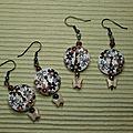 Boucles d'oreilles perles et boutons