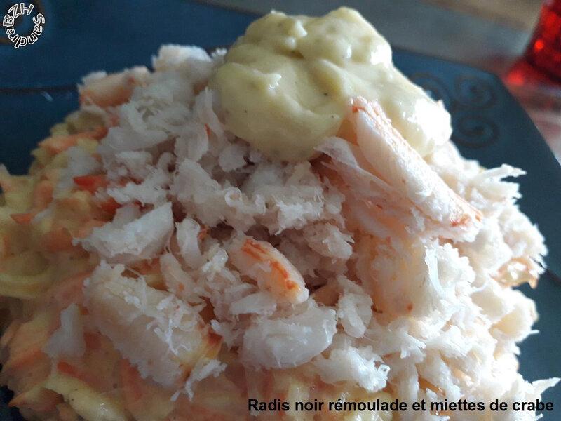 0403 Radis noir rémoulade et miettes de crabe 2