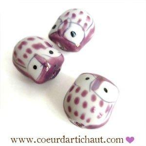 perle-hibou-chouette-mauve-clair www.coeurdartichaut.com