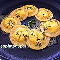 Ravioles aux 3 fromages de simoné zanoni – pâques