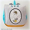 sac à dos petit ourson avec abeille