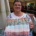 Les tricoteuses de l'association escapades sambre-avesnoises au féron'arts 2012 le jeudi 16 août
