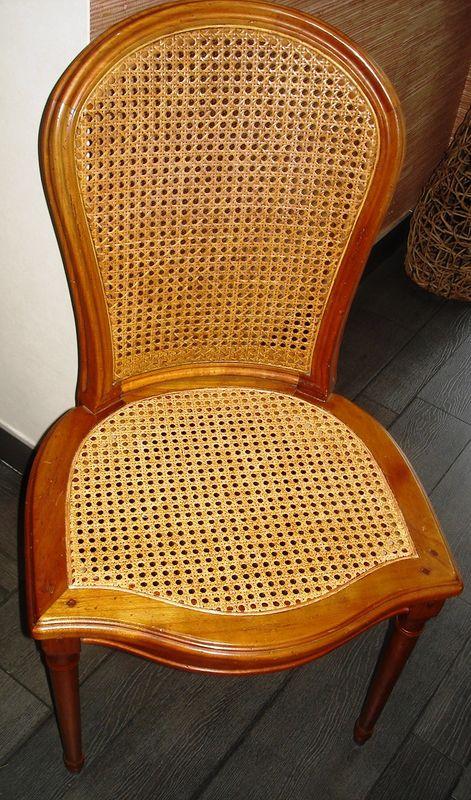 chaise cann e stephane poissel tapissier d corateur. Black Bedroom Furniture Sets. Home Design Ideas
