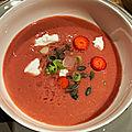 Gaspacho à la tomate & aux fraises