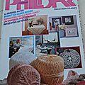 Magazine phildar décoration et loisir