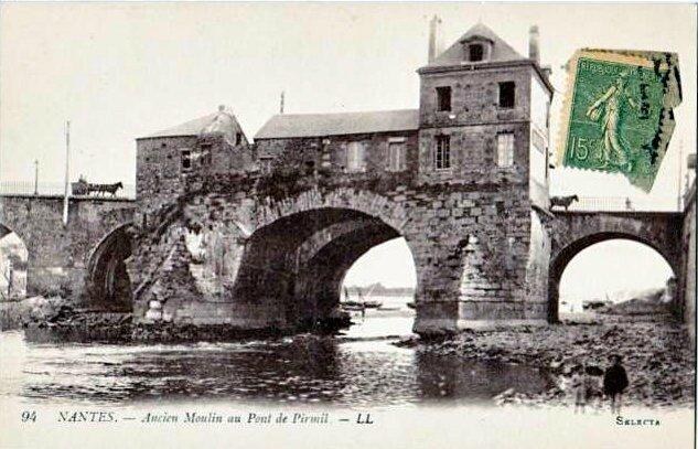 Nantes - Ancien Moulin au Pont de Pirmil