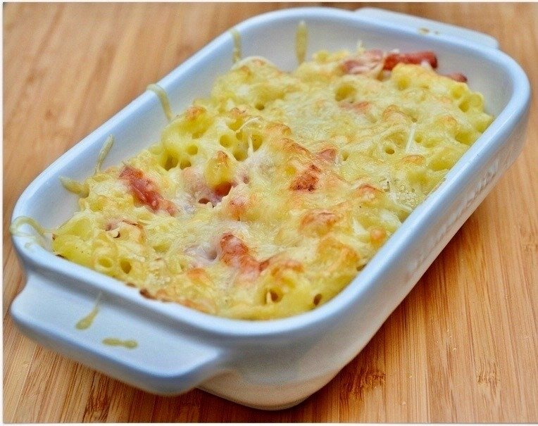gratin coquillettes