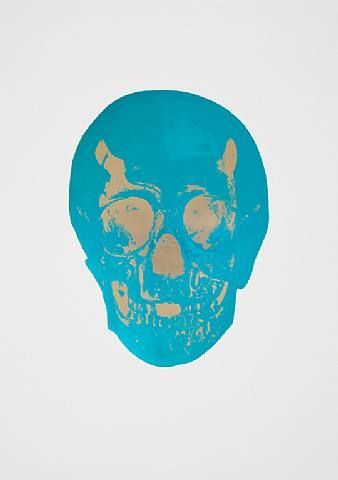 Damien Hirst, The Dead Turquoise Cool Gold Skull , 2009