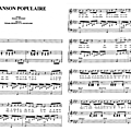 Chanson populaire (partition - sheet music)