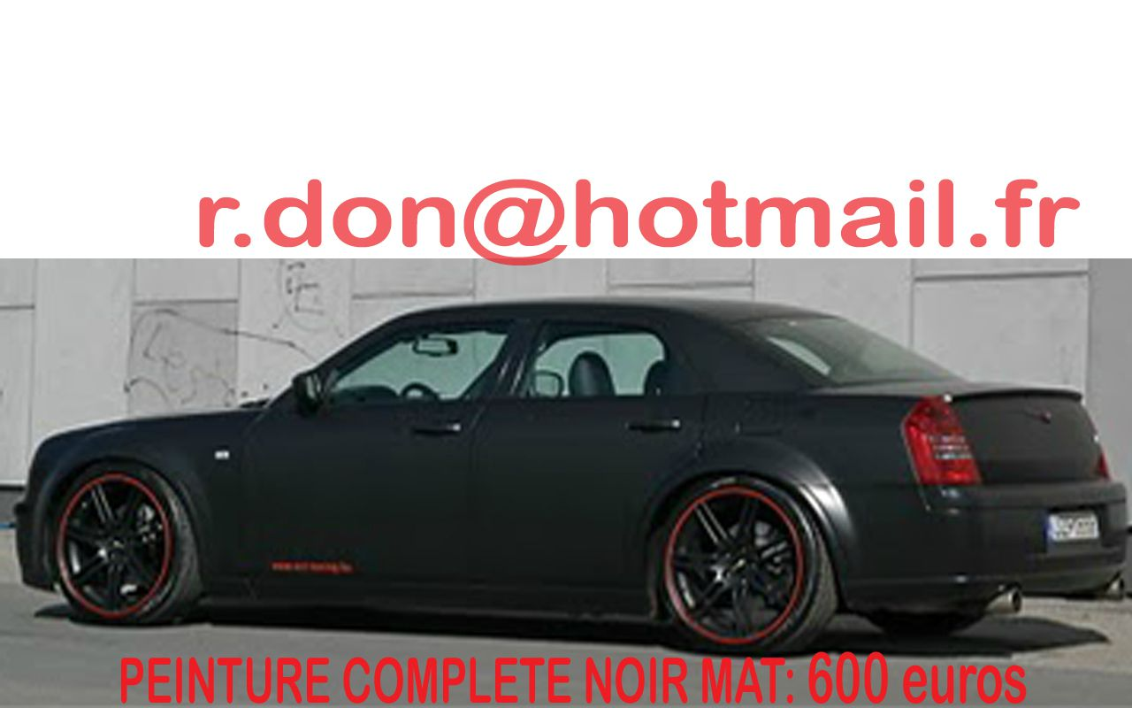 chrysler 300c film thermoformable peinture noire mate vitre peinture de v hicule noir mat. Black Bedroom Furniture Sets. Home Design Ideas