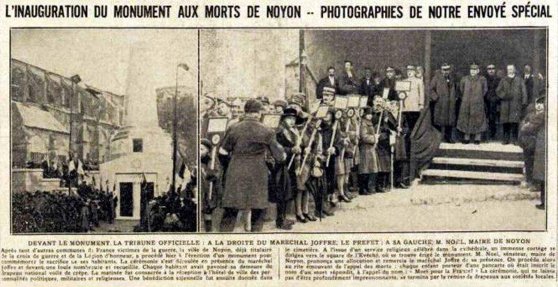 Inauguration monumNoyon