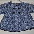 veste kimono matelassé vintage