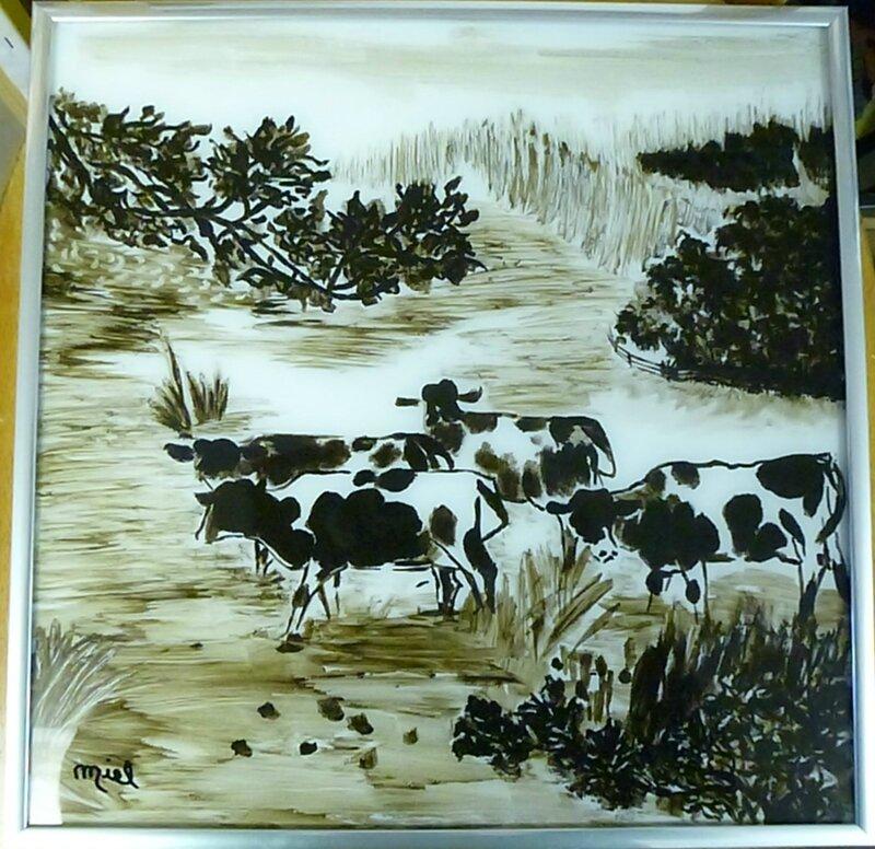 vaches bretonne 30x30