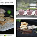 Sophie's recipe cards, light palets with cardamom and ginger spices, dairy & gluten free