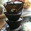 Bouchees chocolat-caramel-truffe