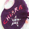 bavoir mini violet personnalisé 1