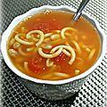 Soupe aux haricots blancs et tomates pelées