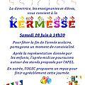 Fête de l'école : samedi 18 juin dès 14h30