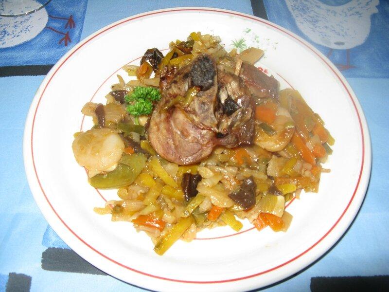 Dinde au wok de legumes