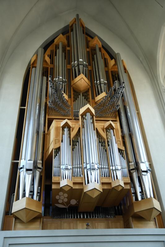 Islande, Reykjavík, église Hallgrímskirkja, orgue