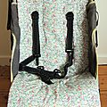 Assise de poussette en liberty liberty emma and