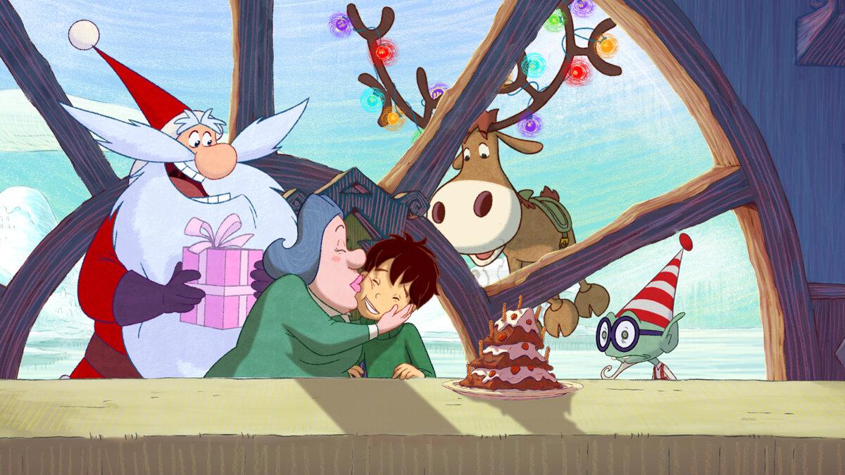 Les Secrets Du Père Noël Avec Lapprenti Père Noël Dessin Animé