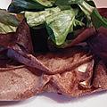 Galettes de blé noir camembert et poire