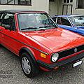 Volkswagen golf 1 cabriolet 1980-1987