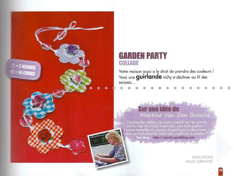 creative magazine, guirlande garden party