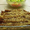 Plat : crêpes au sarrasin garnies de jambon et champignons
