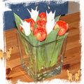 art floral - vase aux tulipes