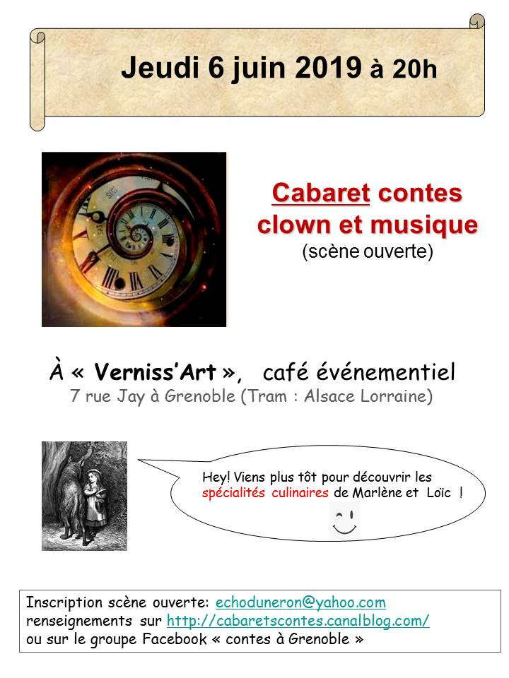 "cabaret au café ""Verniss'art"""