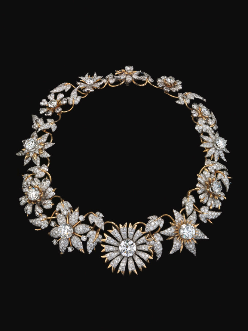 2514d47e2151c Jean Schlumberger (French, 1907–1987) for Tiffany & Co., manufacturer  (American, founded 1853), Flowers and Leaves necklace, ca. 1958. Diamonds,  18-karat ...