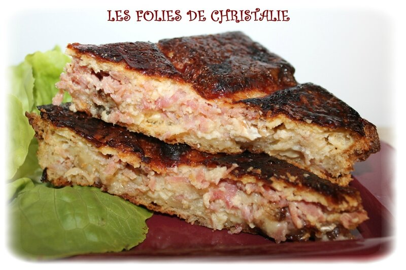 Croque cake camembert 2