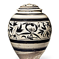 A_rare_large_painted_Cizhou_ovoid_jar_and_a_cover__Northern_Song_Yuan_dynasty__960_1368_