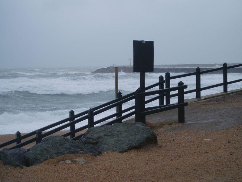 Tempête sur côte Atlantique (Anglet, février 2007)