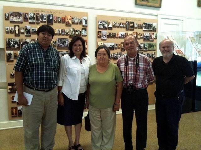 L'équipe du musée tribal osage