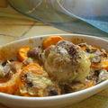 Paupiettes de veau à la patate douce gratinée aux saveurs d'extrême-orient.