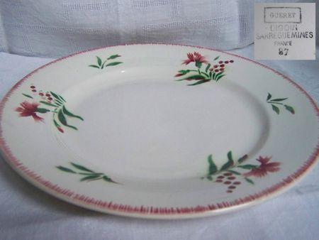 Assiette plate Gueret (1) Fan de Digoin