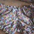 Culotte BIANCA en coton fleuri jaune rose turquoise - noeud de vichy ciel (3)