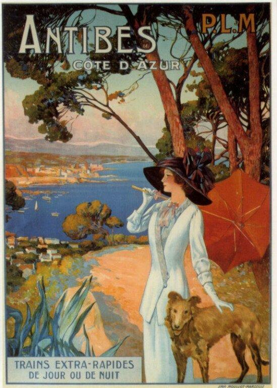 Les affiches touristiques de la Côte d'Azur