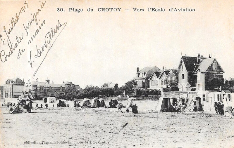 Le Crotoy, vers l'école d'aviation, 1917