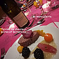 Terrine de chevreuil, poires et betteraves