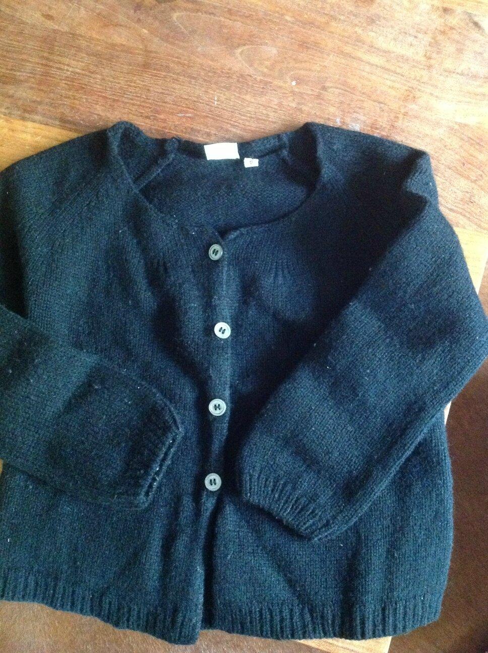 veste Bonton noire 6 ans
