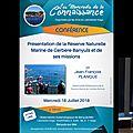 Vidéo conférence du 18 juillet 2018: j.f. planque: réserve marine cerbère-banyuls