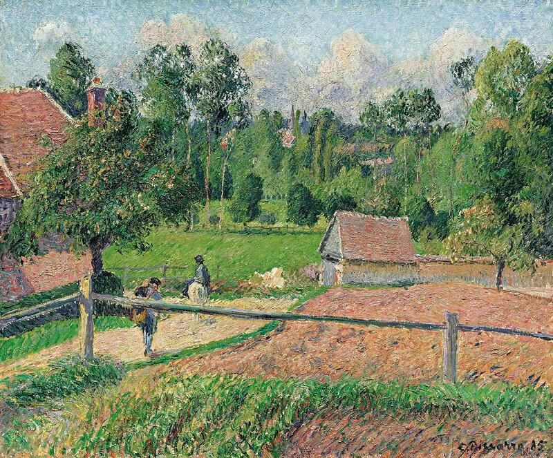 1200px-Camille_Pissarro_-_Vue_de_la_fenêtre_de_l'artiste,_Eragny