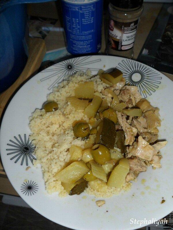 Poulet citron olives courgette - 2