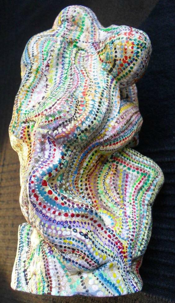 Hervé THAREL - SCHMIMBLOCK'S gust 2014 - acrylic sur argile 20x6cm 1