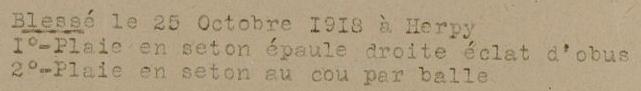 BOBINEAU 25 OCT 1918