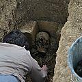 chantier de fouilles archéologiques,site fontevristes ,chapelle saint jean l habit